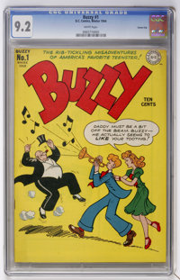 Buzzy #1 Carson City pedigree (DC, 1944) CGC NM- 9.2 White pages