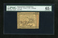 Colonial Notes:Pennsylvania, Pennsylvania October 1, 1773 5s PMG Gem Uncirculated 65 EPQ....