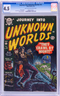 Golden Age (1938-1955):Horror, Journey Into Unknown Worlds #15 (Atlas, 1953) CGC VG+ 4.5 Light tanto off-white pages....