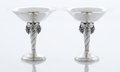 Silver Holloware, American:Compotes, A PAIR OF AMERICAN SILVER COMPOTES. William G. DeMatteo,Bergenfield, New Jersey, circa 1950. Marks: DEMATTEO, STERLING,H... (Total: 2 Items)