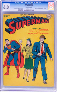 Superman #30 (DC, 1944) CGC FN 6.0 Off-white pages