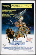 "Movie Posters:Science Fiction, Battlestar Galactica (Universal, 1978). Autographed One Sheet (27""X 41"") Style C and German A2 (16.5"" X 23.25). Science Fic...(Total: 2 Items)"
