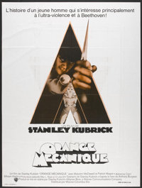"A Clockwork Orange (Warner Brothers, R-1970s). French Grande (47"" X 63""). Science Fiction"