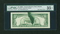 Error Notes:Ink Smears, Fr. 1972-F $5 1969C Federal Reserve Note. PMG Choice Very Fine 35EPQ.. ...