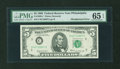 Error Notes:Skewed Reverse Printing, Fr. 1969-C $5 1969 Federal Reserve Note. PMG Gem Uncirculated 65EPQ.. ...