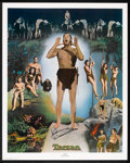 "Movie Posters:Adventure, Johnny Weissmuller as Tarzan Limited Edition Print (NostalgiaMerchant, 1977). Autographed Poster (24"" X 30""). Adventure.. ..."