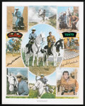 Movie Posters:Western, The Lone Ranger (Clayton Moore and Jay Silverheels) Limited Edition Print (Nostalgia Merchant, 1977). Autographed Poster (24...