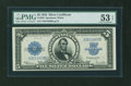 Large Size:Silver Certificates, Fr. 282 $5 1923 Silver Certificate PMG About Uncirculated 53 EPQ....