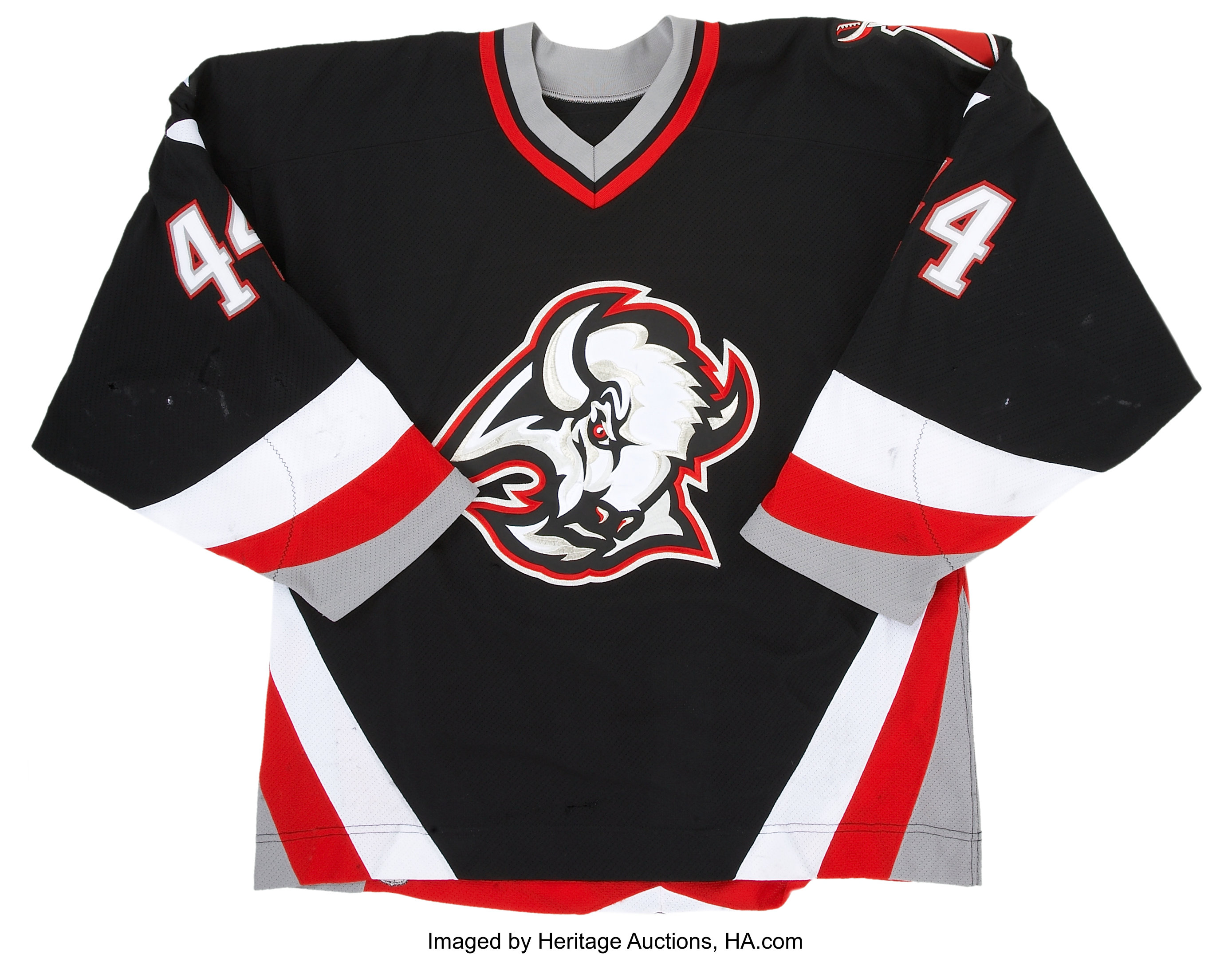 the best attitude 469f1 7081d 2002-03 Alexei Zhitnik Buffalo Sabres Game Worn Jersey ...