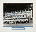 Autographs:Photos, 1955 Brooklyn Dodgers Multi-Signed Photograph....