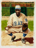 Baseball Collectibles:Others, Josh Johnson Original Ron Lewis Painting. ...