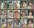 Baseball Cards:Sets, 1961 Topps Baseball Low- and Middle-Series Partial Set (362/371). ...
