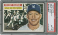 Baseball Cards:Singles (1950-1959), 1956 Topps Mickey Mantle #135 PSA EX-MT 6....