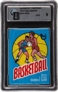 Basketball Collectibles:Others, 1975-76 Topps Basketball Unopened Wax Pack GAI Mint 9. ...