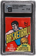 Basketball Collectibles:Others, 1974-75 Topps Basketball Unopened Wax Pack GAI NM+ 7.5. ...