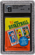 Basketball Collectibles:Others, 1980-81 Topps Basketball Unopened Wax Pack GAI NM-MT 8. ...