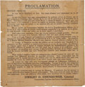 Autographs:U.S. Presidents, [Dwight D. Eisenhower] Broadside of Eisenhower's Proclamation Announcing the Liberation of France, June 1944. One page, 16.5...