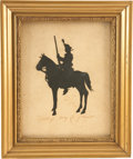 "Autographs:Military Figures, [Henry ""Light Horse Harry"" Lee] Silhouette. One page, 8.5 "" x 9.75"", attractively framed (10"" x 12"" overall). The striking b..."