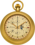 Timepieces:Pocket (post 1900), Comor Chronograph Pocket Watch with Triple Calendar & MoonPhase, circa 1960. ...