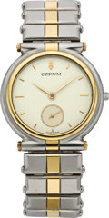 Timepieces:Wristwatch, Corum Two Tone Diamond Star Wristwatch, modern. ...