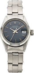 Timepieces:Wristwatch, Rolex Lady's Steel Oyster Perpetual Date, circa 1970. ...