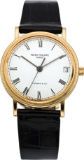 Timepieces:Wristwatch, Patek Philippe Ref. 3802/200 Calatrava for Tiffany & Co.,modern. ...