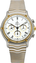 Timepieces:Wristwatch, Ebel Two Tone Automatic 1910 Chronograph, circa 2005. ...