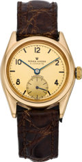 "Timepieces:Wristwatch, Rolex Rare Ref. 4270 Early Gold Oyster ""Elegante"", circa 1930. ..."