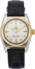 Timepieces:Wristwatch, Rolex Ref. 2940 Steel & Gold Bubbleback, circa 1950. ...