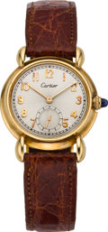 Timepieces:Wristwatch, Cartier Rare Gold Wristwatch by C.H. Meylan, circa 1932. ...