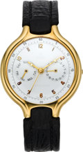 Timepieces:Wristwatch, Ebel Gent's Gold Day Date Beluga Automatic, circa 2005. ...