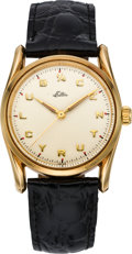 "Timepieces:Wristwatch, Rolex Gold ""Bombe"" Gent's Ref. 1011 Wristwatch, circa 1961. ..."