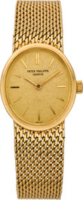 Timepieces:Wristwatch, Patek Philippe Lady's Gold Wristwatch, circa 1965. ...