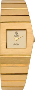 "Timepieces:Wristwatch, Rolex Cellini ""Queen Midas"" Gold Wristwatch, Ref. 4313, circa 1980's. ..."
