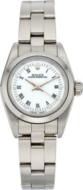 Timepieces:Wristwatch, Rolex Ref. 67000 Lady's Steel Oyster Perpetual, circa 1994. ...