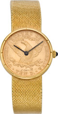 Timepieces:Wristwatch, Corum Ten Dollar Liberty Gold Coin Watch, circa 1980's. ...