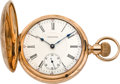 Timepieces:Pocket (pre 1900) , Waltham 21 Jewel Gold Hunters Cased Vanguard, circa 1895. ...