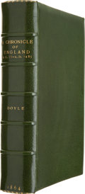 Books:First Editions, James E. Doyle. A Chronicle of England B.C. 55 - A.D. 1485.London: Longman, Green, Longman, Roberts & Green, 1864....