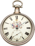 Timepieces:Pocket (pre 1900) , Thomas Cordingley Rack Lever Fusee with Unique Dial, circa 1819....