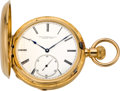 Timepieces:Pocket (pre 1900) , Swiss High Grade Gold Watch With Wilmot's Patent Regulator, circa1880. ...