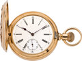 Timepieces:Pocket (pre 1900) , Paillard Non-Magnetic Heavy Gold Pocket Watch, circa 1888. ...