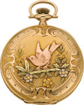 Timepieces:Pocket (post 1900), Elgin Mint Gold Multicolor Fancy Dial Pocket Watch, circa 1926. ...