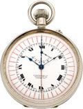 Timepieces:Pocket (post 1900), S. Smith & Son Ltd. London Unusual Chronograph With Register,circa 1910. ...