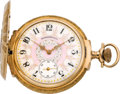 Timepieces:Pocket (post 1900), Elgin Mint Gold Multicolor Box Hinge 16 Size Fancy Dial, circa1911. ...
