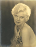 "Movie Posters:Miscellaneous, Jean Harlow by Edwin Bower Hesser (1928-29). Portrait Still (10.25""X 13.25"").. ..."