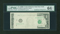 Error Notes:Inking Errors, Fr. 1907-B $1 1969D Federal Reserve Note. PMG Choice Uncirculated64 EPQ.. ...