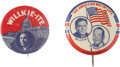 Political:Pinback Buttons (1896-present), Wendell Willkie: Pair of Presidential Campaign Pinback Buttons.... (Total: 2 Items)