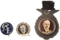 Political:Pinback Buttons (1896-present), Calvin Coolidge: Three Scarce Celluloids.... (Total: 3 Items)