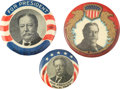 Political:Pinback Buttons (1896-present), William Howard Taft: Trio of Colorful Pinback Portrait Buttons.... (Total: 3 Items)