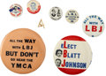 Political:Pinback Buttons (1896-present), Lyndon B. Johnson: Group of Eight LBJ Pinback Buttons.... (Total: 8 Items)